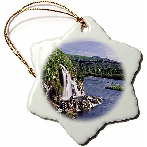 Florene America The Beautiful–Fiume Snake Idaho–Decorazioni–3cm FIOCCO DI NEVE decorazione in porcellana - Snake Porcellana