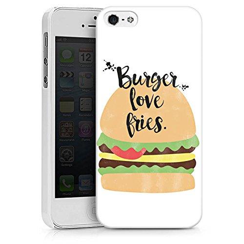Apple iPhone X Silikon Hülle Case Schutzhülle Burger Fastfood Essen Hard Case weiß