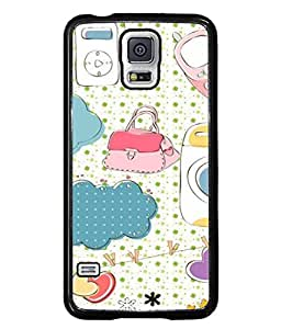 Snapdilla Designer Back Case Cover for Samsung Galaxy S5 Neo :: Samsung Galaxy S5 Neo G903F :: Samsung Galaxy S5 Neo G903W (Love Cellphone Shirt Dotted Cute Texture )