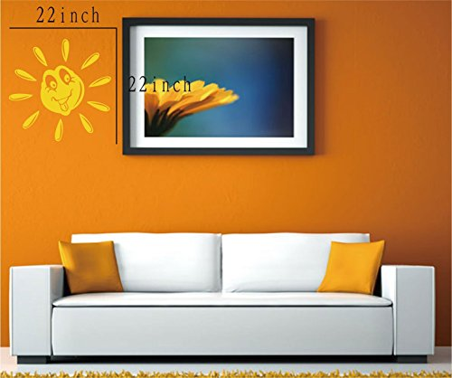 Large--Easy instant decoration wall sticker wall mural boy girl kids baby nursery room butterfly sun FL781