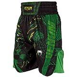 Venum Green Viper Short de Boxe Homme, Noir/Vert, FR : L (Taille Fabricant : L)