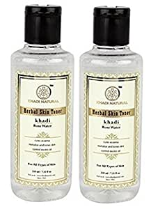 Khadi Natural Rose Water Herbal Skin Toner, 210ml (Pack of 2)