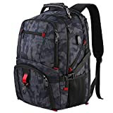 Laptop Backpack 17 inch, Large Anti Theft USB Hand Luggage Backpack with Headphone