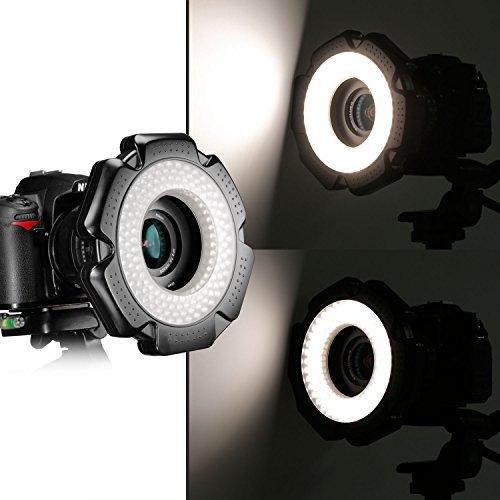 Neewer® R-160 160 Stück 5600K 10W Mini-LED-Makroring -Licht mit 6 Adapterringe (49mm / 52mm / 55mm / 58mm / 62mm / 67mm) für Makro Canon / Nikon / Sony / Sigma / Tamron Objektiv