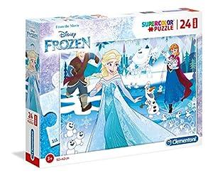 Clementoni Supercolor puzzle-frozen-24Piezas Maxi, 28502