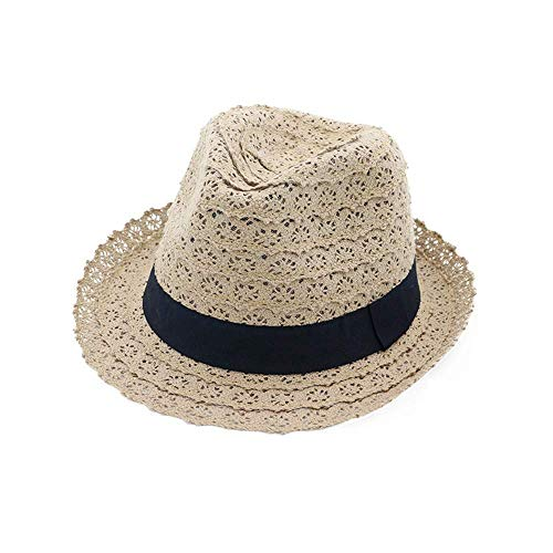 CXHMY Hut Sonnenhut Outdoor Travel Cap Classic Hut Frühling Sommer Damen Curling Sonnen F