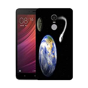 Snoogg comet heading for earth Designer Protective Back Case Cover For Xiaomi Redmi Note 4