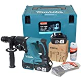 Makita DHR243RMJV con 2 Baterías wzw 4, 0Ah / Cargador / Maleta / Broca / Portabrocas sin llave