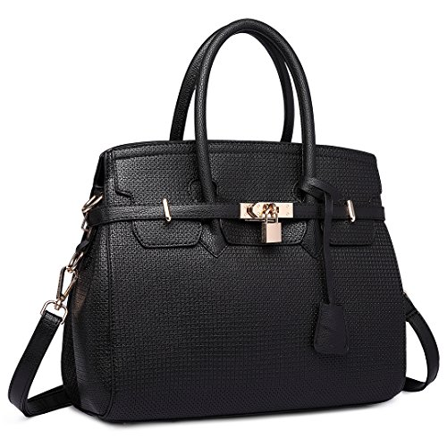 Miss Lulu, Borsa a mano donna Plain Black