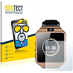 2x BROTECT Matte Protector for Gearmax Smartwatch DZ09 Screen Protector Matte, Anti-Glare Protection Film