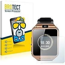 2x BROTECT Protector Pantalla para Gearmax Smartwatch DZ09 - Mate, Película Antireflejos