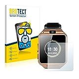brotect Schutzfolie Matt Gearmax Smartwatch DZ09 Anti-Reflex Displayschutzfolie [2 Stück] Entspiegelte Folie Displayfolie Anti-Fingerprint