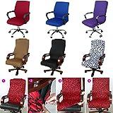 Caveen Computer Hussen Removable Stuhlhussen Stretch-Stuhlbezug Dekoration Abdeckung für Stuhl.Sitz Cover,Removable,waschbar