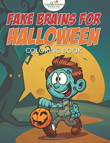 Fake Brains for Halloween Coloring Book