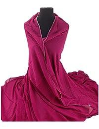 XXL Damen Stola Schal Unifarbe 220x 140 CM in verschiedenen Farbe aus Viskose
