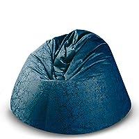 كرسي استرخاء كبير مريح بلون أزرق من باجوزو