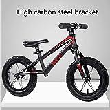 Y-Bikeee Bicicleta De Equilibrio para Niños para 2 3 4 5 6 Años De Edad, Niños Y Niñas, Bicicleta para Niños Pequeños con Cubierta De Espuma De Polímero EVA para Niños,Black