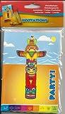 Indianer Einladungskarten 8 Stück 26110