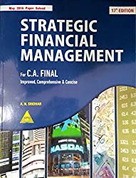 Strategic Financial Management (May 2016 Paper Solved)