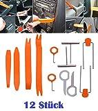 12 Stück Set Hebelwerkzeug Armaturenbrett Entfernung Auto Repair Werkzeug Kit Türverkleidungs Lösewerkzeug Zierleistenkeile Set Autotür Panel Auto Radio -101835- INION®