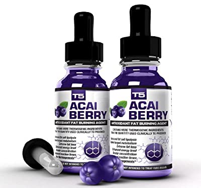 x2 Super Strength Acai Berry Serum: Powerful T5 & Acai Berry Blend: Advanced Diet Pill Alternative (2 Month Supply) from BHS