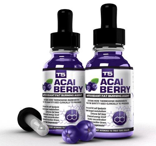 Advanced Antioxidant Serum (x2 Super Strength Acai Berry Serum: Powerful T5 & Acai Berry Blend: Advanced Diet Pill Alternative (2 Month Supply))
