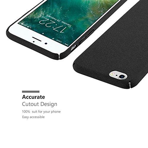 Cadorabo – Mattes Hard Cover Slim Case Frosty passend für >                Apple iPhone 6 / 6S                < - Cover Schutz-hülle in FROSTY-PINK FROSTY-SCHWARZ