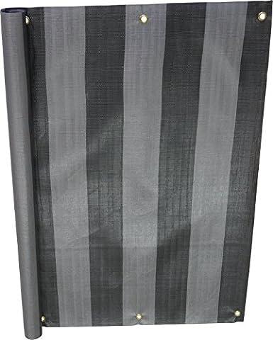 Angerer Brise-Vue Design No. 3800 gris, 90 cm, Longueur: 8 mètre