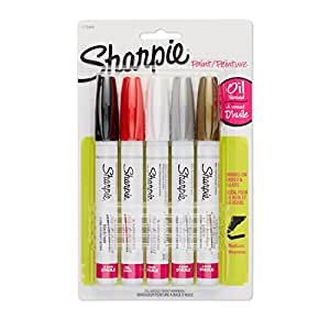 Sharpie Oil-Based Medium Point Paint Markers, 5 Colored Markers (1770458)