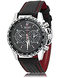 MEGIR Watch Men Watches Fashion Men's Quartz Watch Sports Quartz Watch Casual Leather Men's Analog Display Waterproof...