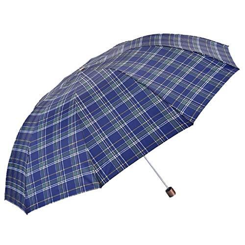 Gfbyq ombrello, britannico plaid pieghevole extra large double ten bone rinforzo ombrello anti-vento doppio scopo (colore : d)