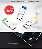 #8: DEAL OF THE DAY / SUMMER CARNIVAL/ High Speed Metal Card Reader (((( Pack of 2 Metal + 1 free ))) Mini USB 2.0 Micro SD TF T-Flash Memory Card Reader Adapter-EZ329