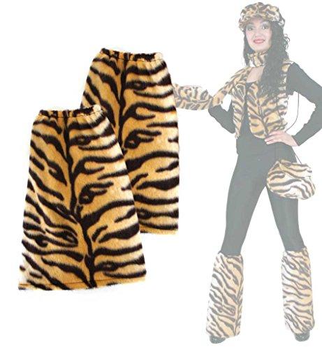 - Stulpen, für Erwachsene, Tier - Muster, viele verschiedene Designs, große Auswahl, Accessoire, ideal für Karneval (Tiger) (Tiger Kostüm-muster)