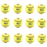 barnett OSL-1 pelota de competición sófbol, t 12'', color amarillo, 12 piezas