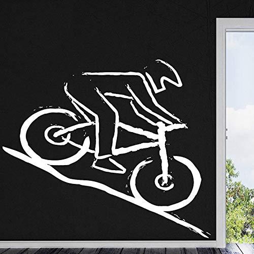 jiushizq Vinyl Aufkleber Applikation Mountainbike Racing Vinyl Wandtattoo 57x65cm Weiß 57x65cm