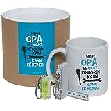 Geschenkset/DoseWenn Opa es nicht reparieren kann, kann es keiner (Tasse, Mini-Wasserwaage & Zollstock) Deko YD 3-001-10