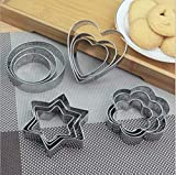 Bulfyss 12 Pieces Cookie Cutter Stainless Steel Cookie Cutter with Different Shape