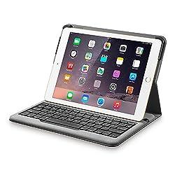 Anker Folio Bluetooth Tastatur & Hülle für iPad Air 2  Eine schützende Tastaturhülle für dein iPad Air 2 - ideal für Schreiben, Lesen und mehr. Komfortables Tippen Erlebe mit dieser kompakten Tastatur schnelles und gleichzeitig ruhiges Tippen. Du...