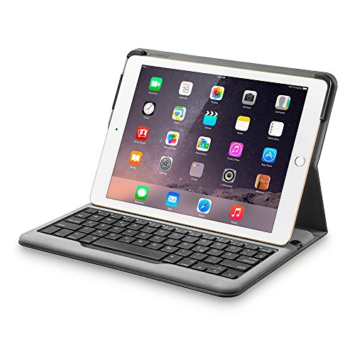 Anker Bluetooth Folio Tastatur Case Hülle für iPad Air 2 — Smart Case mit Auto Wake/Sleep Funktion, Komfortable Tasten und 6 Monate Akkulaufzeit zwischen den Ladungen (ausschließlich für iPad Air 2)