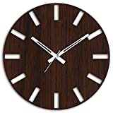 #10: Studio Shubham Retro decorative wooden wall clock(26.5X26.5X3CM)