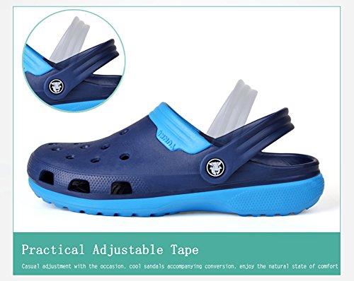 Zapatos Zapatillas Vwu Marrón Sin De Deslizan Verano Mujer Playa Sirven Amantes Color De Talón Zuecos Zuecos 4 Sandalias Se tptPx1wq