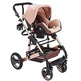 Guellin 3 en 1 Cochecito de Bebé Plegable Coche de Bebes Cochecito de Bebe para Paseo con Resortes Antichoque y Asiento de Seguridad para Bebé Baby Stroller