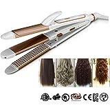 Nouveau 3-en-1 Céramique Cheveux Bigoudi et Cheveux Lisseur Cheveux Fer Baguette Cheveux Styling Outils