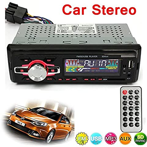 AUDEW 12V 6082 Modello Autoradio Stereo LCD Lettore MP3 In-Dash Radio MP3 Media Player per AUTO FM USB SD MMC AUX Input con Telecomando