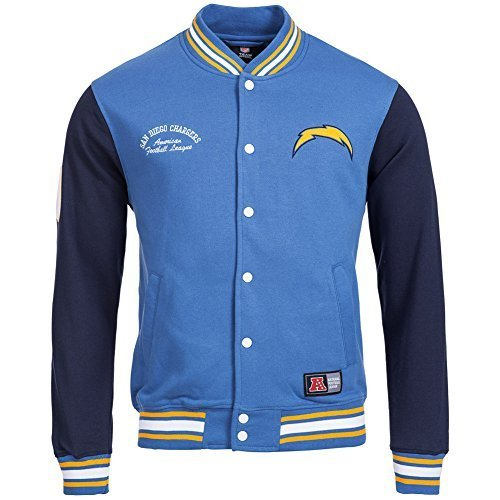 Majestic Nuovo Orleans Saints Senell Calcio Letterman NFL Felpa - San Diego Chargers, x-large