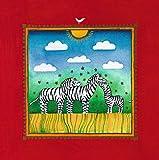 Linda Edwards Three little zebras Poster Kunstdruck