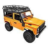 Fenteer Échelle 1:12 Télécommande RC Camion DIY 4WD Rock Crawler Car Toys DIY Modèle de Voiture - Jaune