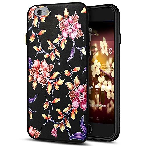 Cover iPhone 6S,Cover iPhone 6,Custodia iPhone 6S / iPhone 6 Cover,ikasus® Cover custodia per iPhone 6S / 6 disegno colorato TPU con 3d arte pittura floreale fiore fiori ciliegio girasole modello Cust Fiore #3