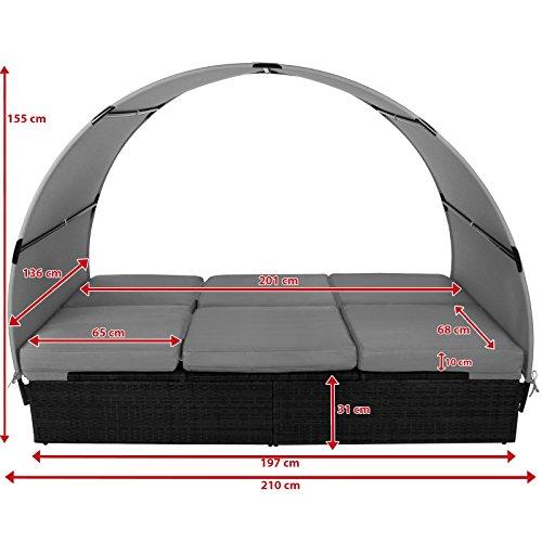 bb-sport-sonnenliege-polyrattan-doppelbett-200-x-140-cm-sonnendach-sitzpolster-abnehmbare-bezuegen-ruecken-fusselemente-5-fach-hoehenverstellbarfarbetitan-schwarz-kieselstrand-4