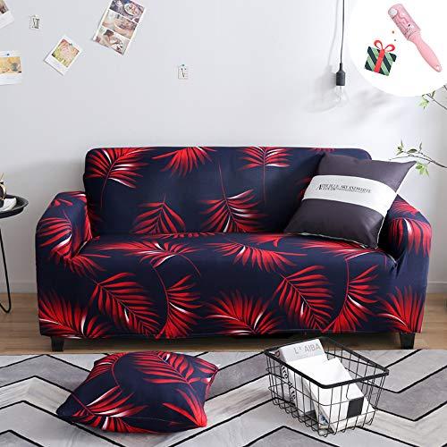 Elastisch Sofa Überwürfe Sofabezug, Morbuy Ecksofa L Form Stretch Antirutsch Armlehnen Sofahusse Sofa Abdeckung Hussen für Sofa Couchbezug Sesselbezug (2 Sitzer,Nadelholz)